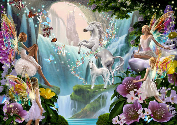 Wall Art - Photograph - Unicorn And Fairy Waterfall by MGL Meiklejohn Graphics Licensing