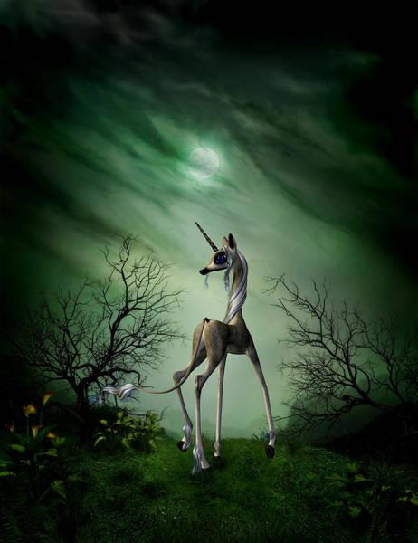 Phantasy Digital Art - Unicorn - What's That by John Junek