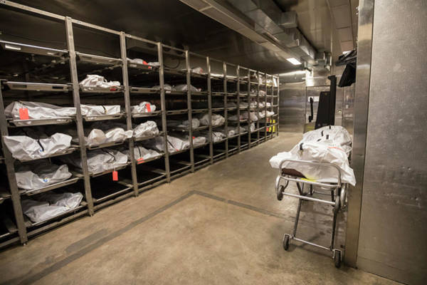 Morgue Photograph - Unidentified Migrant Bodies by Jim West/science Photo Library