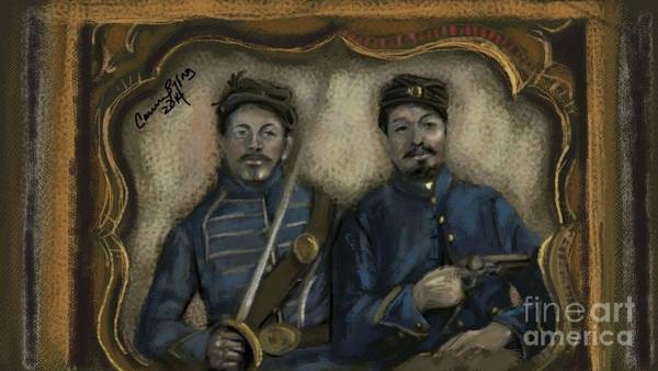 Us Civil War Digital Art - Unidentified Union Soldiers by Carrie Joy Byrnes