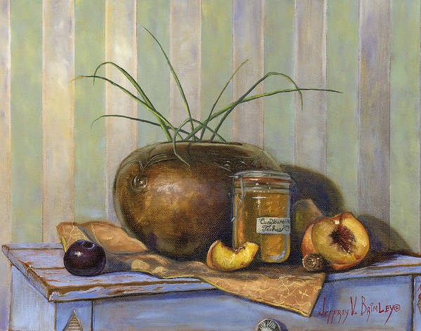 Plums Painting - Uninvited Guest by Jeff Brimley