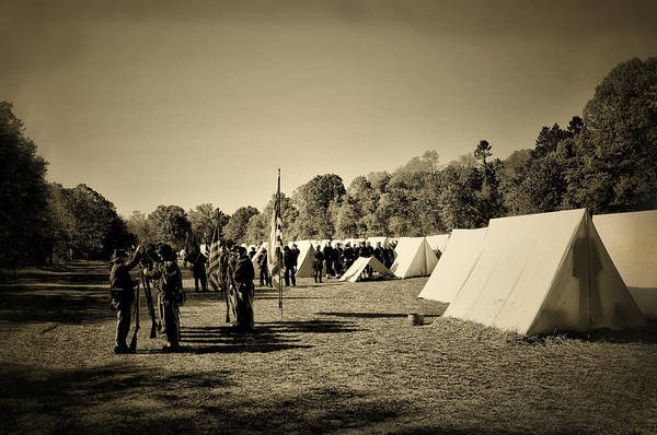 Photograph - Union Army Camp - Civil War by Bill Cannon