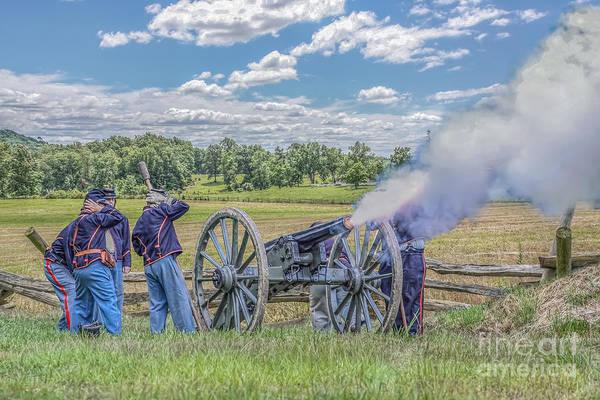Artillery Digital Art - Union Artillery In Action by Randy Steele