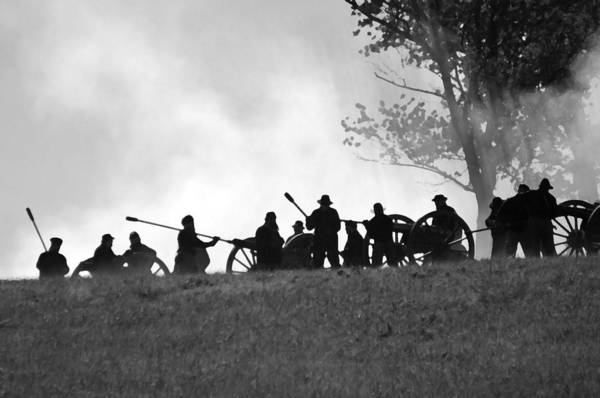 Us Civil War Digital Art - Union Artillery On Webster's Hill - Perryville Ky by Thia Stover