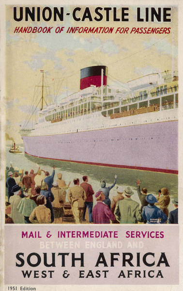 Brochure Drawing - Union-castle Line, Sailing To  South by Mary Evans Picture Library