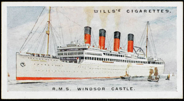 1924 Drawing - Union Castle Liner On  The South Africa by Mary Evans Picture Library