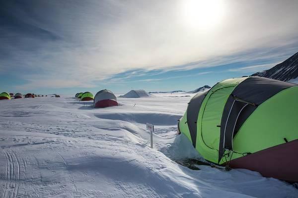 Logistics Photograph - Union Glacier Camp by Peter J. Raymond