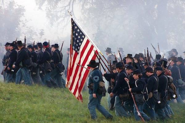 Artillery Brigade Photograph - Union Infantry On The March - Perryville Ky by Thia Stover