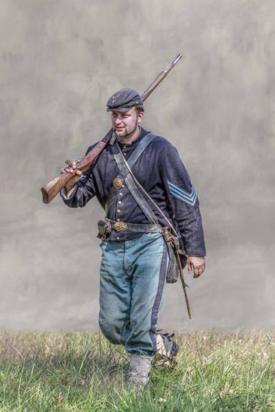 Union Infantry Sergeant Soldier  Art Print