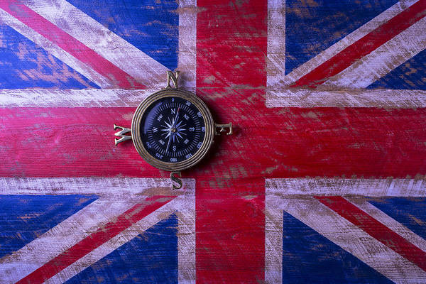 Gay Flag Photograph - Union Jack And Compass by Garry Gay