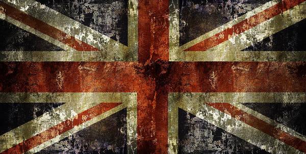 Wall Art - Digital Art - Union Jack Battle Flag by Daniel Hagerman