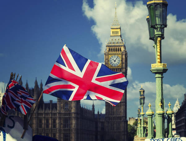 Union Jack In London Art Print