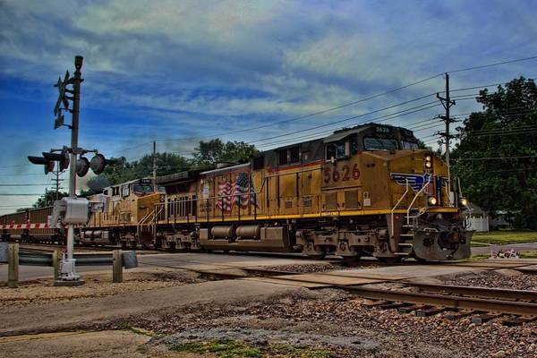 Photograph - Union Pacific Coal Train by Tim McCullough