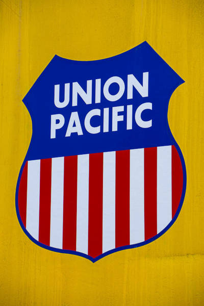 Union Pacific Railroad Wall Art - Photograph - Union Pacific Raolroad Sign by Garry Gay