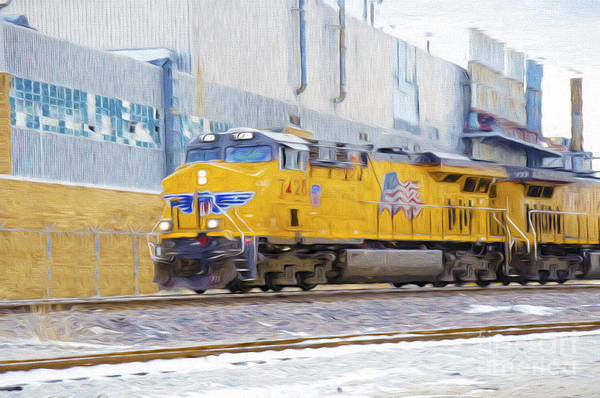Photograph - Union Pacific Train In K C M O by Andee Design