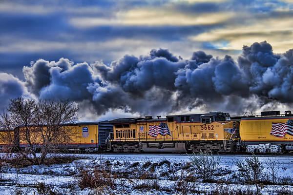 Union Pacific Railroad Wall Art - Photograph - Union Pacific Train by Jeff Swanson