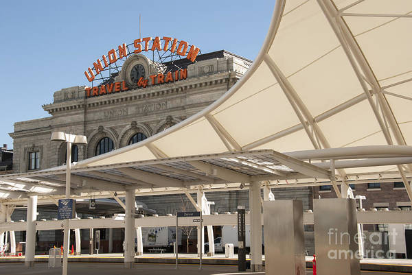 Canopy Photograph - Union Station Denver Colorado by Juli Scalzi