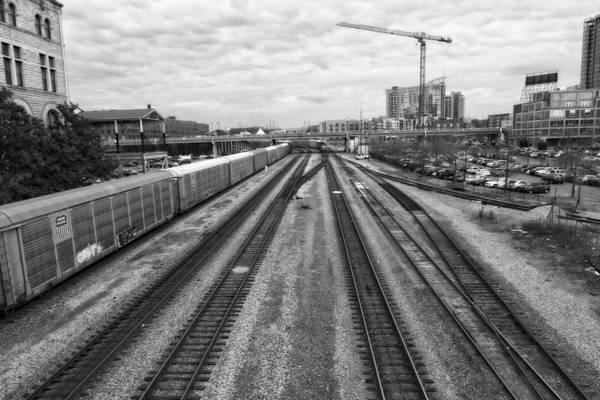 Photograph - Union Station Railroad Tracks by Dan Sproul