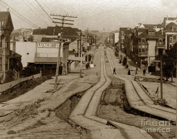 Photograph - Union Street San Francisco Earthquake And Fire Of April 18 1906 by California Views Archives Mr Pat Hathaway Archives