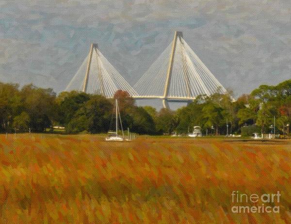 Digital Art - Unique Bridge View by Dale Powell
