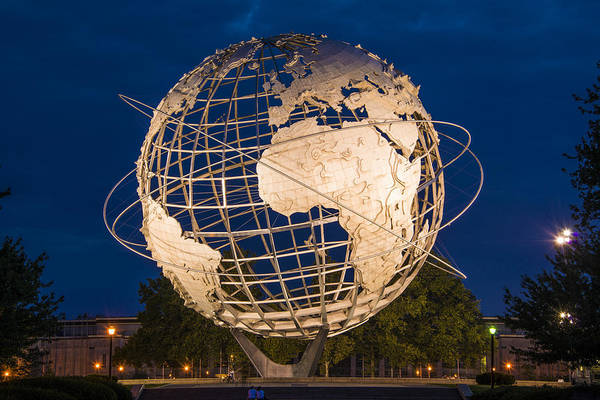 Unisphere Nights Art Print