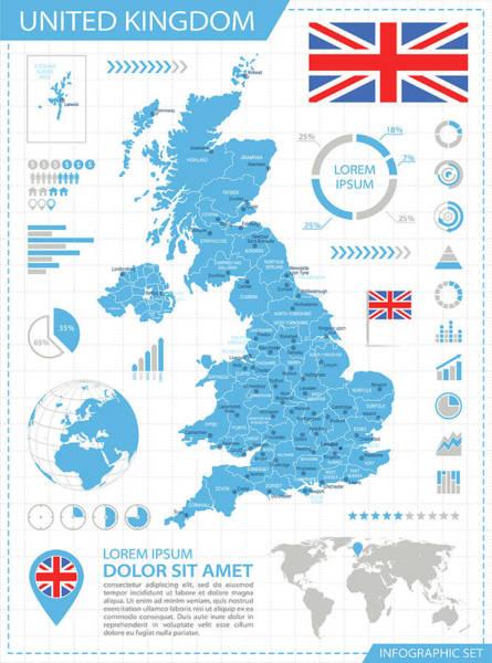 Manchester Digital Art - United Kingdom - Infographic Map - by Pop jop