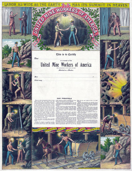 Wall Art - Painting - United Mine Workers by Granger