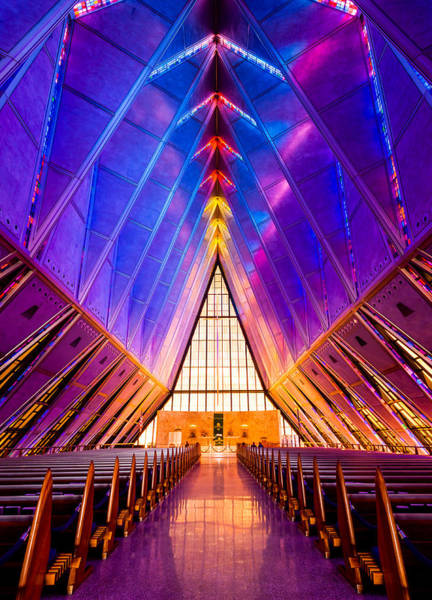 Protestant Photograph - United States Air Force Academy Protestant Cadet Chapel by Alexis Birkill
