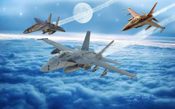 Digital Art - United States Air Force by Michael Rucker