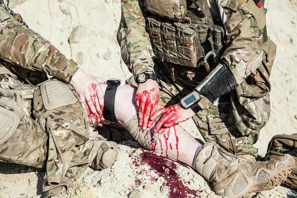 Wall Art - Photograph - United States Army Ranger Medic by Oleg Zabielin
