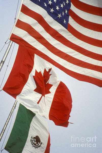 Photograph - United States Canada Mexico by Jim West