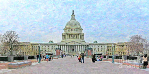 Wall Art - Photograph - United States Capitol Building by Jack Schultz