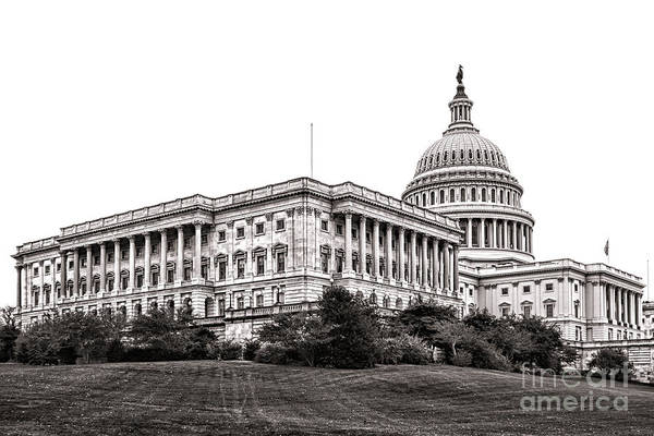 Wall Art - Photograph - United States Capitol Senate Wing by Olivier Le Queinec