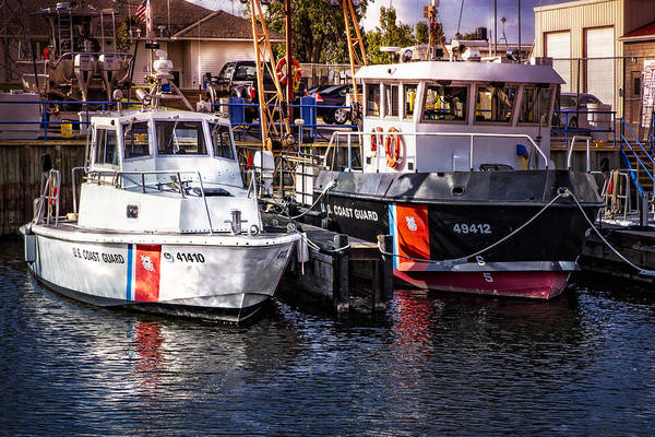Photograph - United States Coast Guard Boats by Debra and Dave Vanderlaan