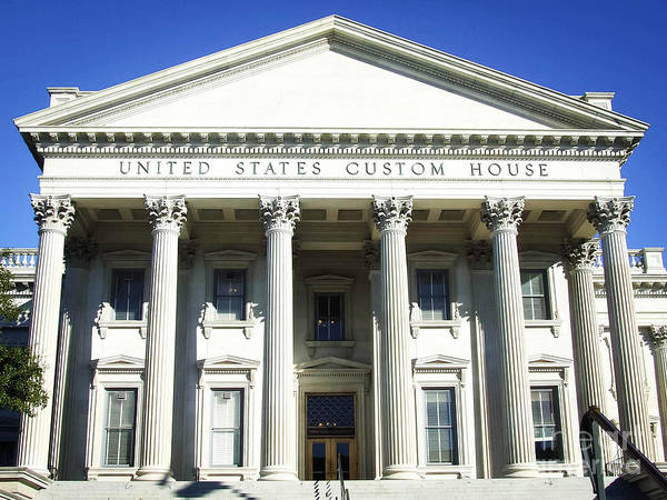 Photograph - United States Custom House - Charleston Sc by Andrea Anderegg