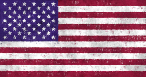 Wall Art - Digital Art - United States Flag by World Art Prints And Designs