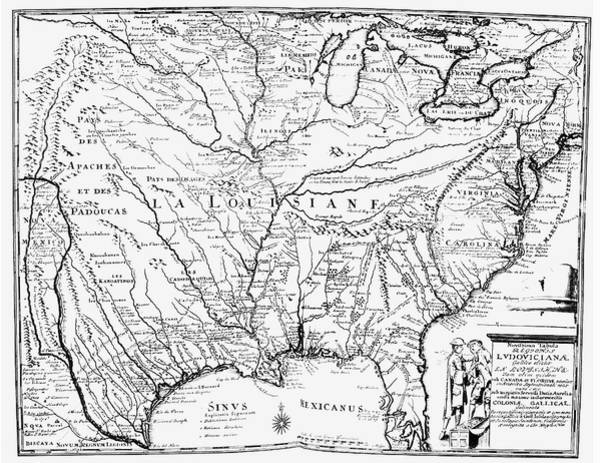 Painting - United States Map, 1734 by Granger