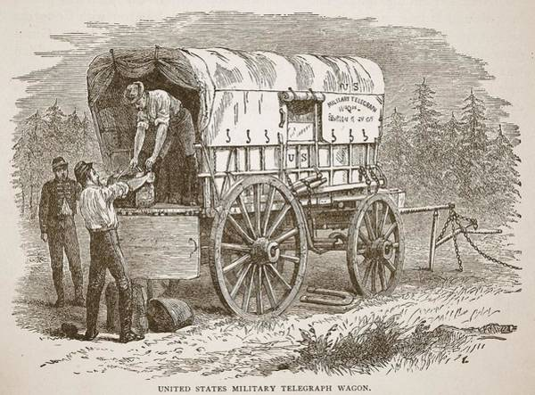 Package Wall Art - Drawing - United States Military Telegraph Wagon by American School