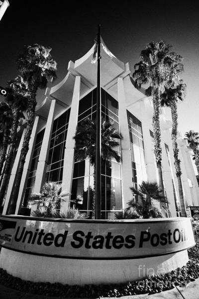 United States Postal Service Photograph - united states post office downtown Las Vegas Nevada USA by Joe Fox