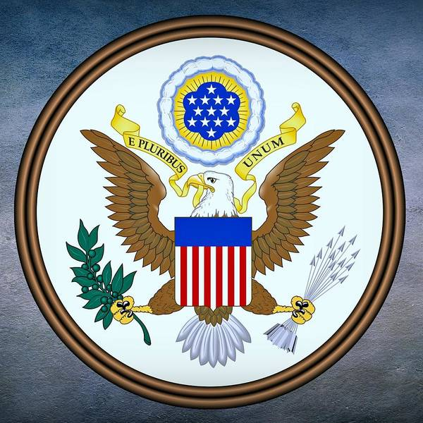 Digital Art - United States Seal by Movie Poster Prints