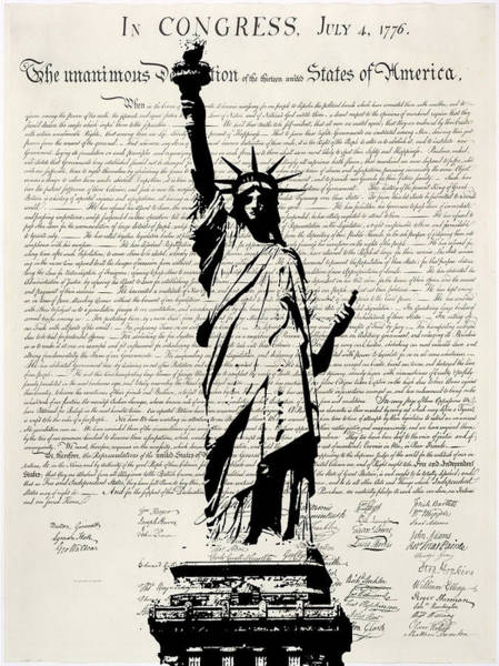 Statue Of Liberty Digital Art - United We Stand by Patricia Lintner