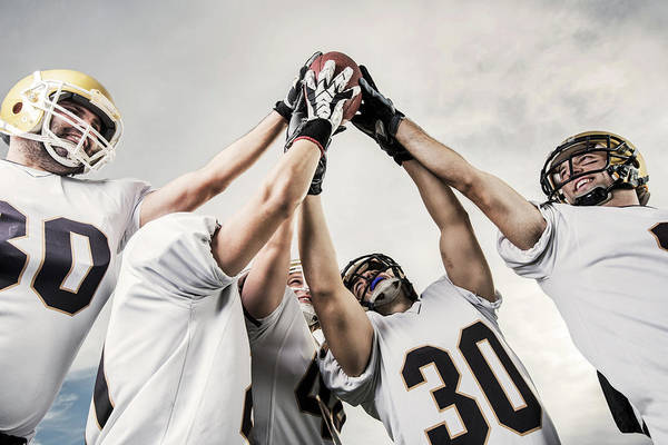 Competitive Sport Photograph - Unity Of American Football Players by Skynesher