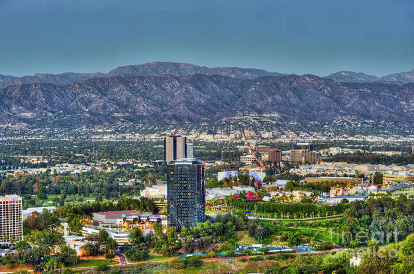 Mulholland Photograph - Universal City Warner Bros Studios Clear Day by David Zanzinger