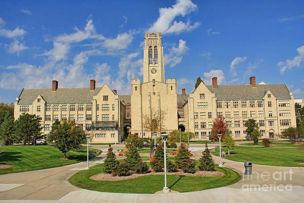 Mac Photograph - University Hall University Of Toledo 9185 by Jack Schultz