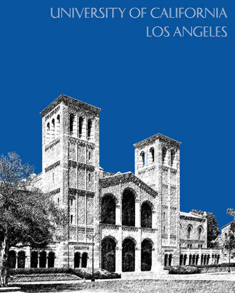Graduation Digital Art - University Of California Los Angeles - Royal Blue by DB Artist