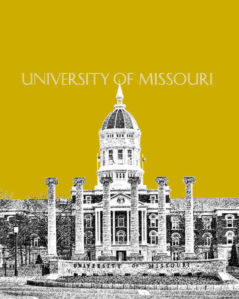 Graduation Digital Art - University Of Missouri - Gold by DB Artist