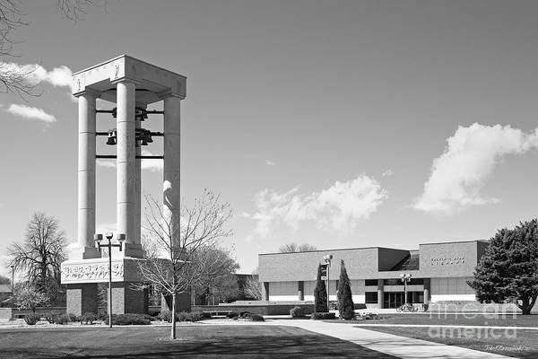Photograph - University Of Nebraska Kearney Bell Tower And Library by University Icons
