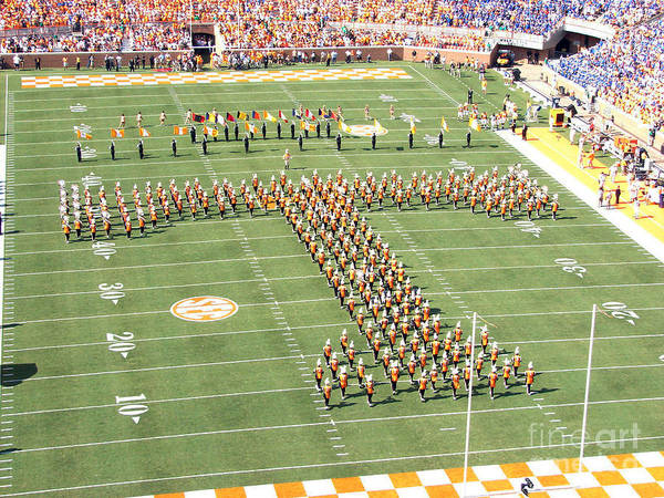 Volunteer Wall Art - Photograph - University Of Tennessee Band T  by Leara Nicole Morris-Clark