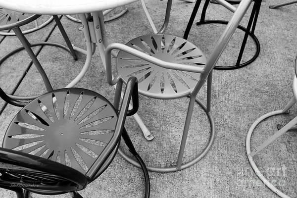 Photograph - University Of Wisconsin Madison Terrace Chairs by University Icons