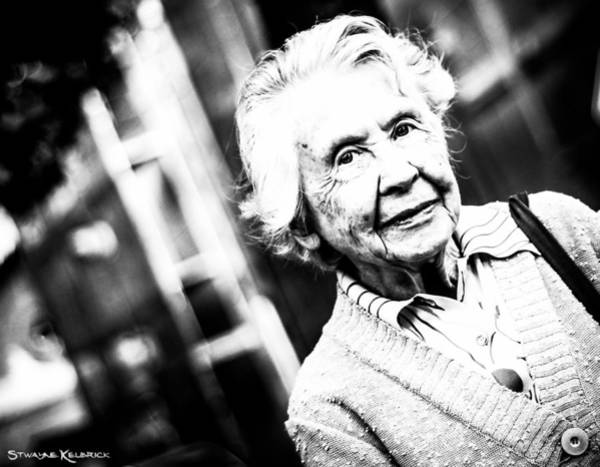 Photograph - Unknown Grandma by Stwayne Keubrick